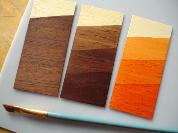 Marabu GlasArt paint as wood stain