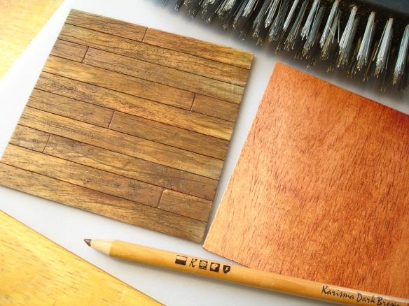 Old oak floorboard model sample