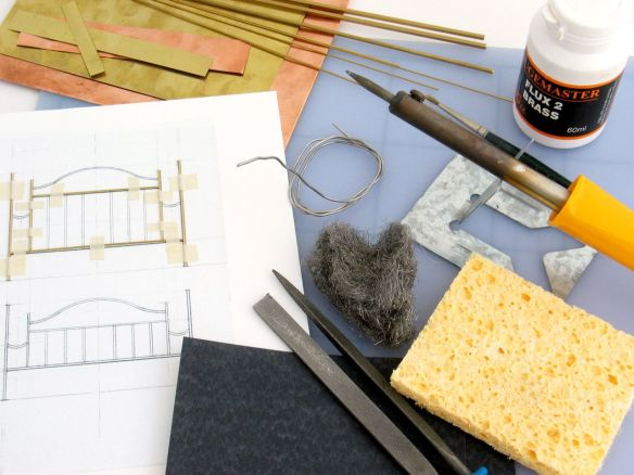 materials and tools for soldering