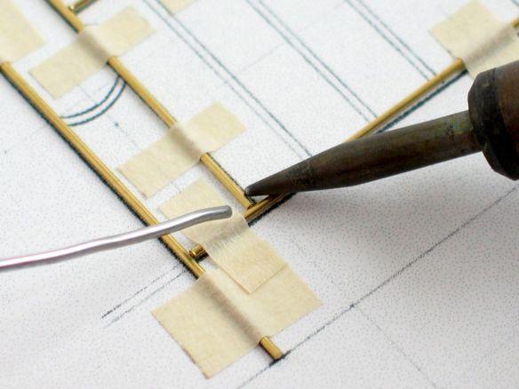 soldering in progress