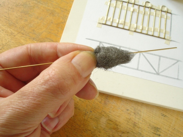 cleaning brass rod with steel wool