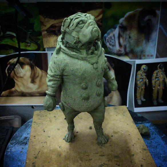Thomas Hughes, New Blades 2015. Space bulldog maquette in progress