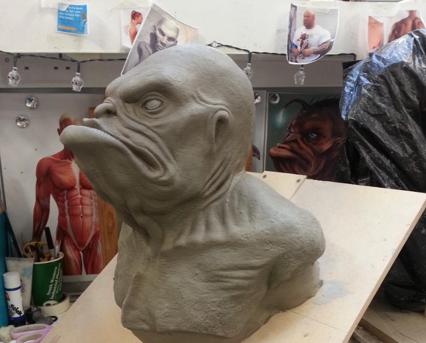 Imogen Nagle, New Blades 2015 'Herman the merman' sculpt