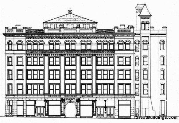 Bradbury Building elevation