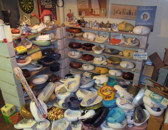Eric Eakin's bedpan collection