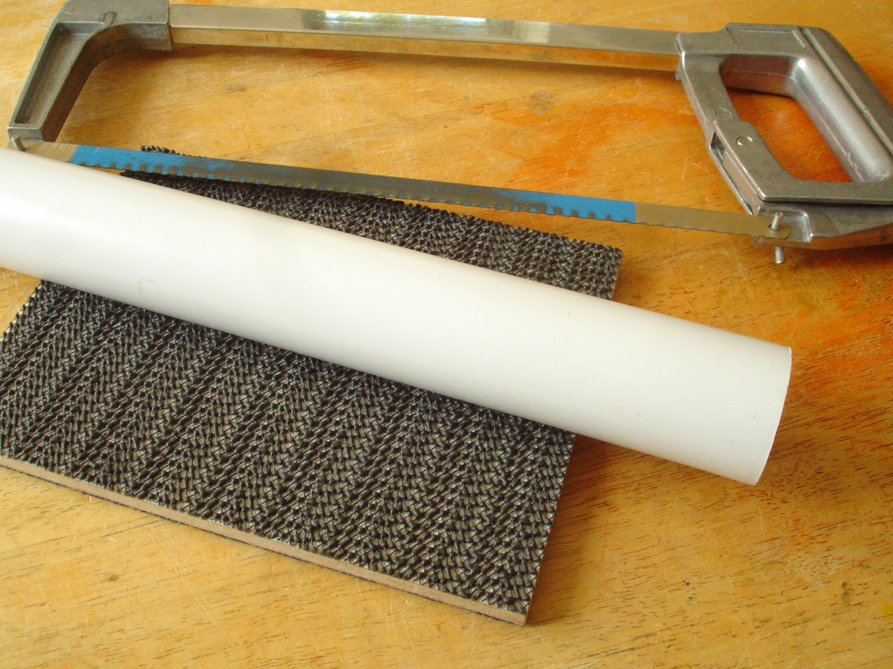 cutting block surfaced with polyester grip fabric