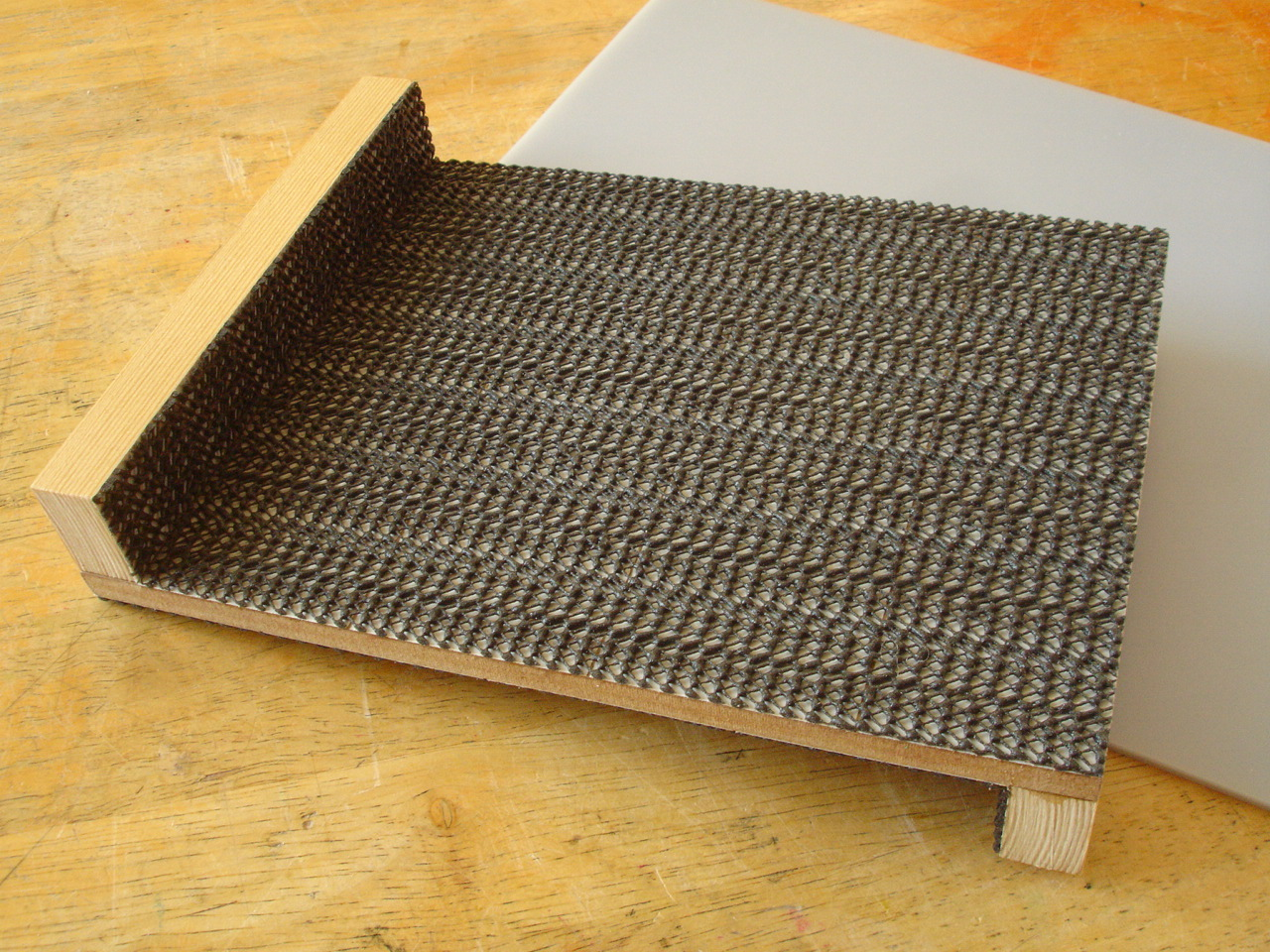 bench hook with grip cladding