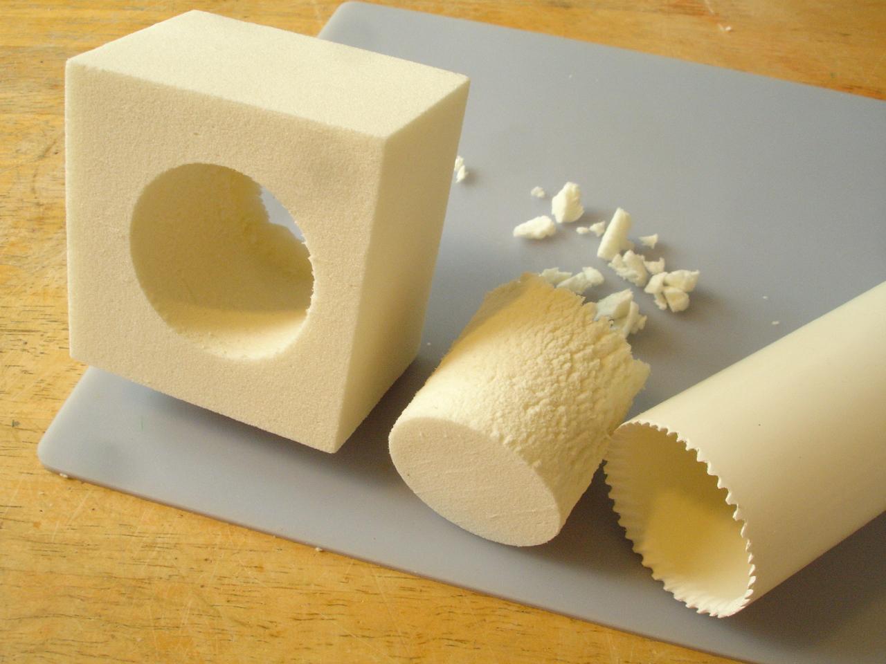 cutting holes in Recticel PU foam