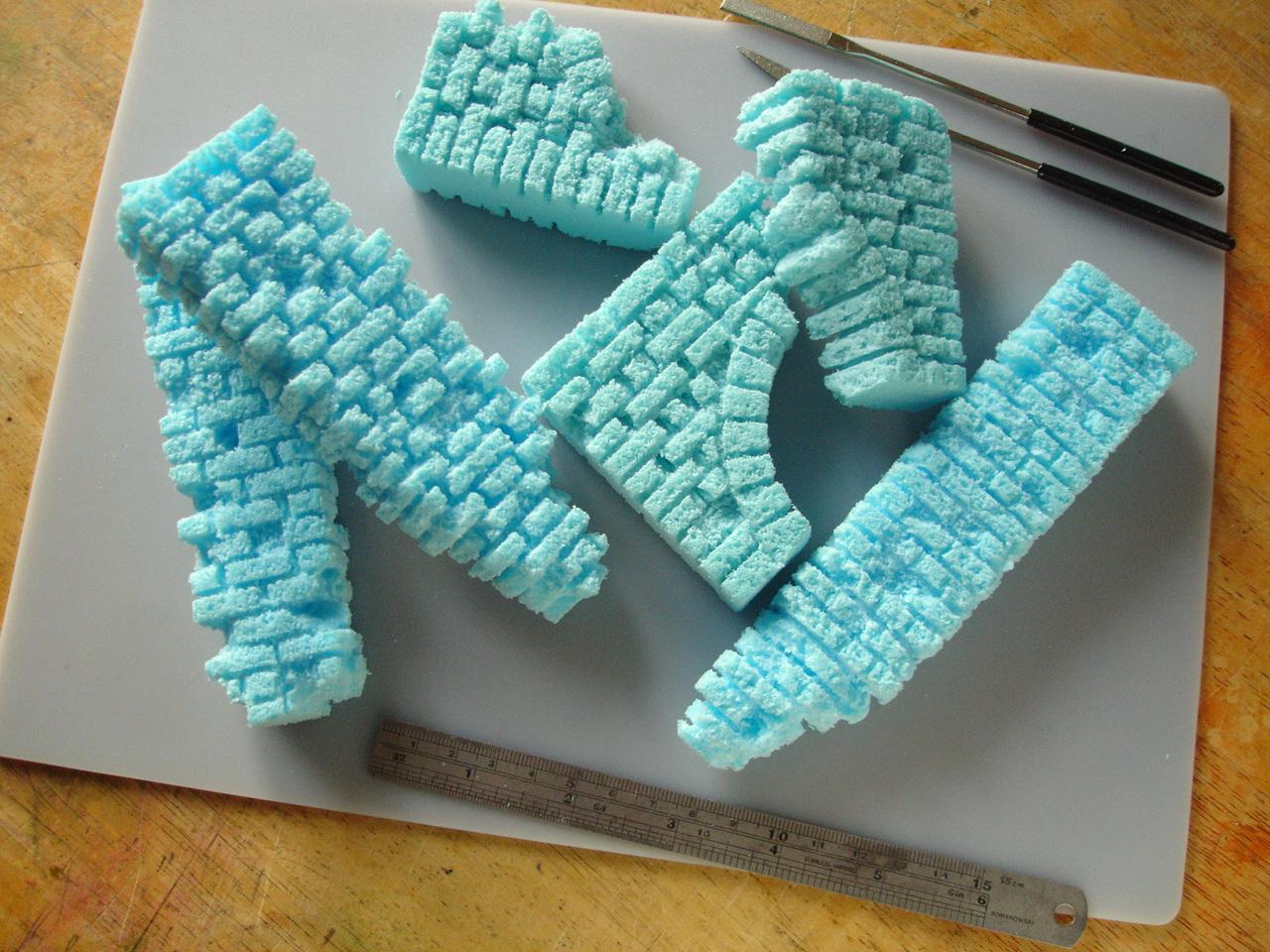 styrofoam 'ruin' fragments