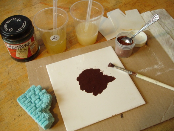 Coating styrofoam with polyurethane resin and pigment
