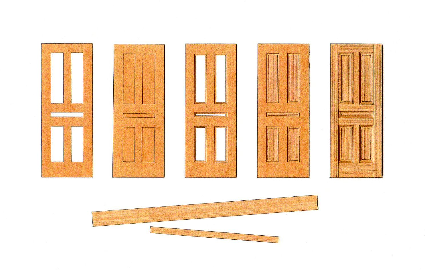 stages of making door using stencil card  sc 1 st  davidneat - WordPress.com & making a model door in layers | davidneat pezcame.com