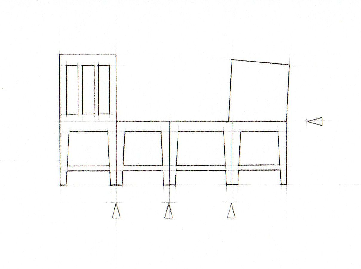 Template For Making 125 Scale Folded Chair In Stencil Card