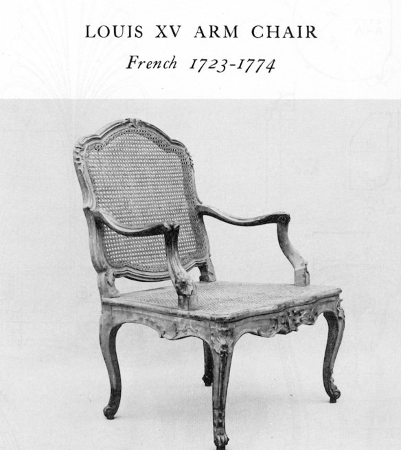 Mid 18thC rococo chair from Salomonsky 'Masterpieces of Furniture'