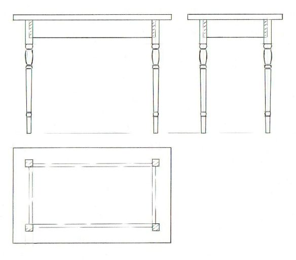 1:10 scale table drawing