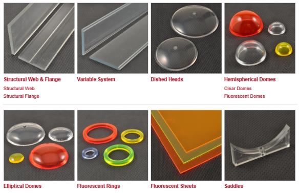 Acrylic shapes from EMA