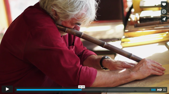 Kelvin Falconer makes a shakuhachi