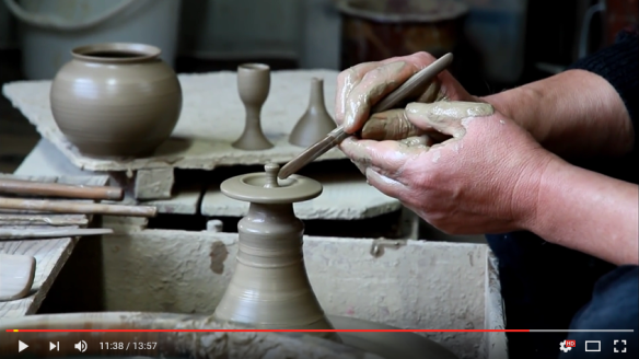 Throwing a Japanese teapot on the wheel