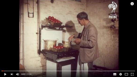 Making cricket balls 1956
