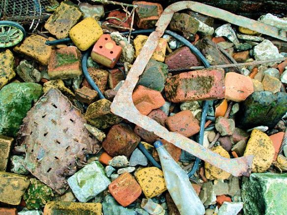 Thames foreshore debris