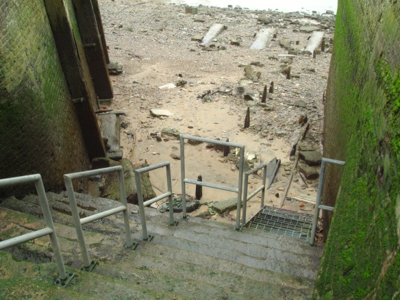 Access stairs to the Thames foreshore at Upper Watergate in Deptford