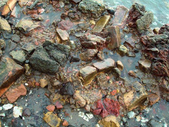 Blitz rubble, Thames Forshore, Rotherhithe
