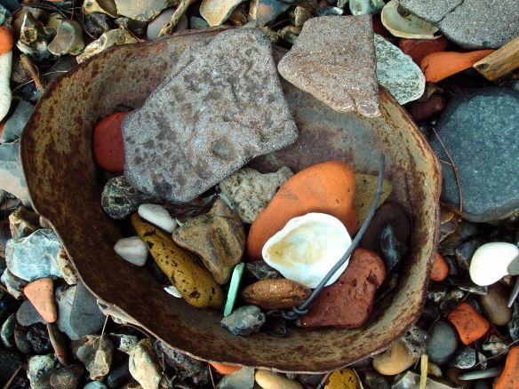Old bucket, Thames Foreshore, Rotherhithe