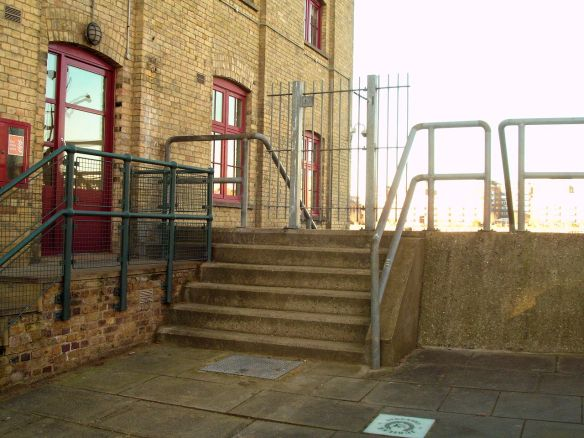 Access gate at the top of Globe Stairs, Thames Foreshore, Rotherhithe