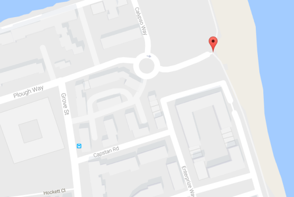 Location of St George's Stairs (Google Maps), Thames Foreshore, Deptford