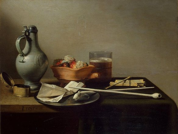 Pieter Claesz 'Clay Pipes and a Brazier' 1636