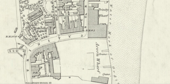 Area around Trinity Stairs, Surrey Docks Thames Foreshore in the 1860s