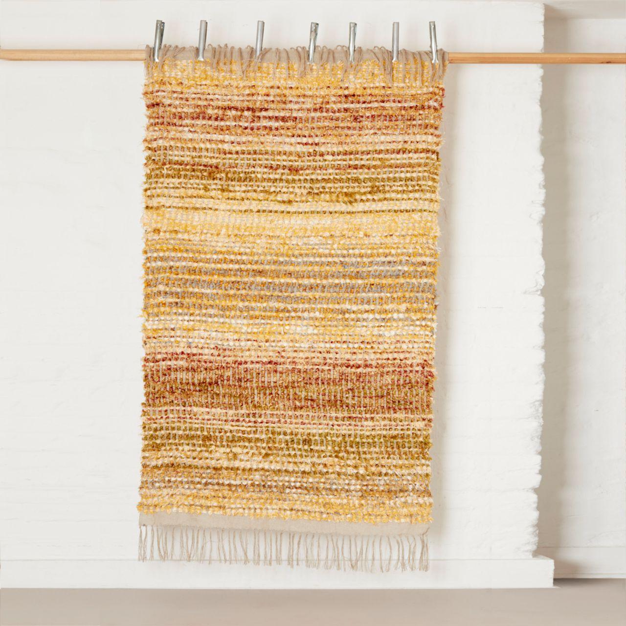 Bristol Weaving Mill, rag rug 'Yellow & grey', The New Craftsmen