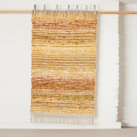 Bristol Weaving Mill, rag rug 'Yellow & grey', The New Craftsmen