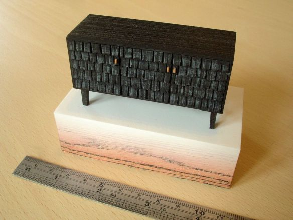 Sebastian Cox 'Scorched Shake Sideboard', model by David Neat