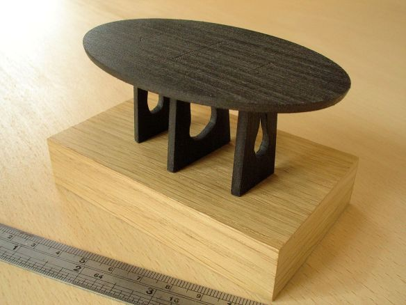 Sebastian Cox 'Scorched Table', model by David Neat