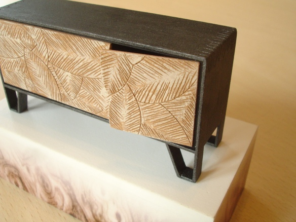 Meyer von Weilligh 'Leaf Sideboard' detail, model by David Neat