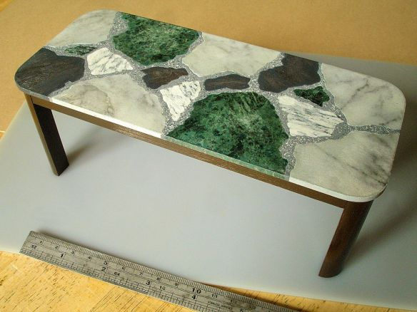 David Neat, 1:10 scale model, 'terrazzo' table, designed by Sue Skeen and The New Craftsmen