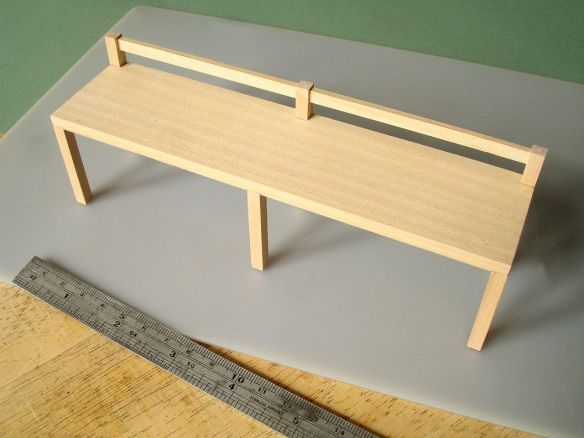 David Neat, 1:10 scale model of ash bench, designed by Sue Skeen for The New Craftsmen