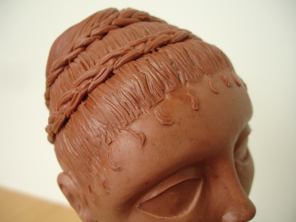 David Neat, wax modelling for puppet heads, 2013