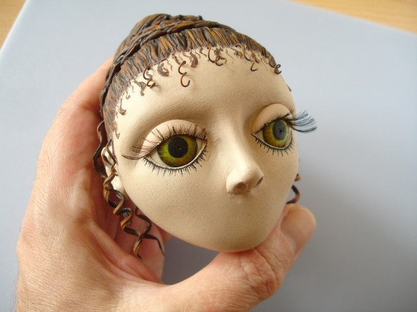 David Neat, cast and painted puppet head, replaceable eyelids, 2013