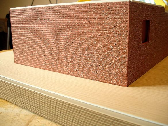 David Neat model-maker, archetectural model 2018, brickwork effect