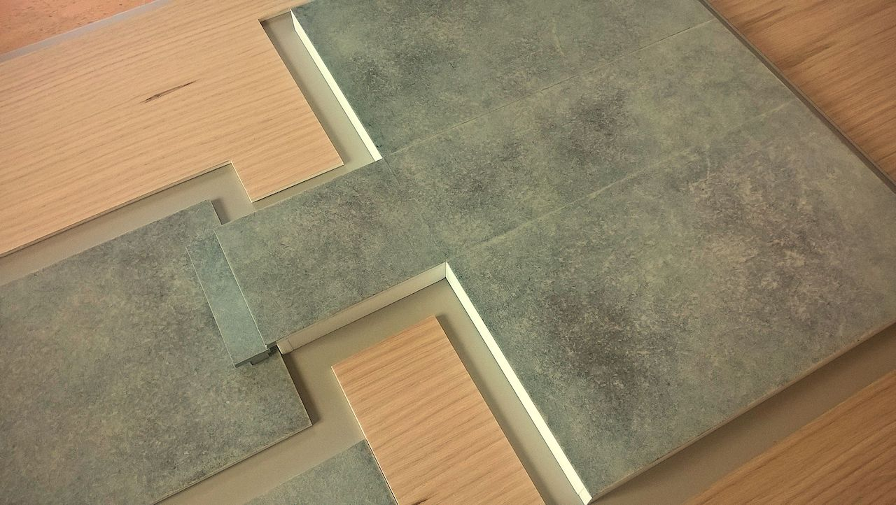 David Neat model-maker, architectural model 2018, polished concrete floor