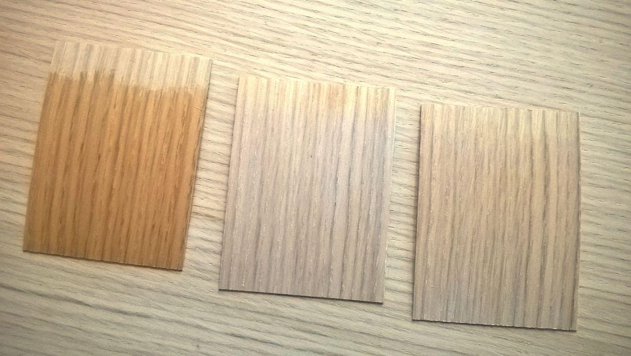 David Neat, samples using different sealers on oak veneer