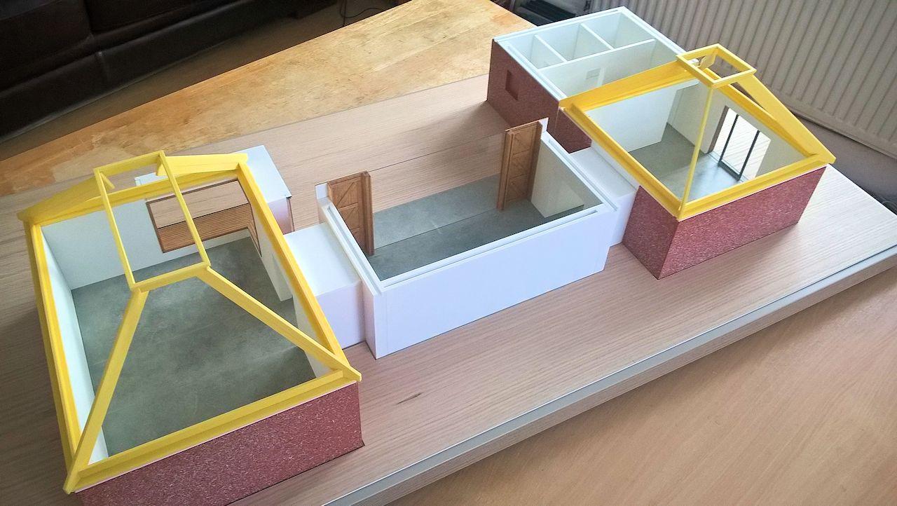 David Neat model-maker, architectural model 2018, 1:25 scale