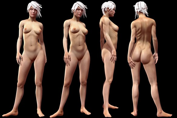 David Neat, model-maker, female figure modelling reference, 2019