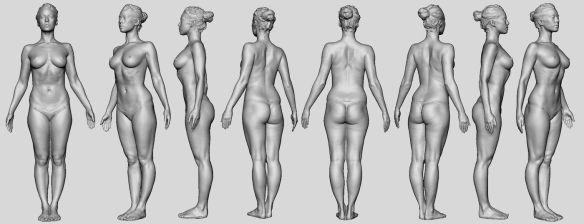 David Neat, model-maker, female figure modelling reference, 2019