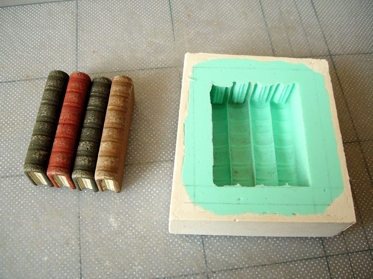 David Neat, prototype and mould for 'book blocks'
