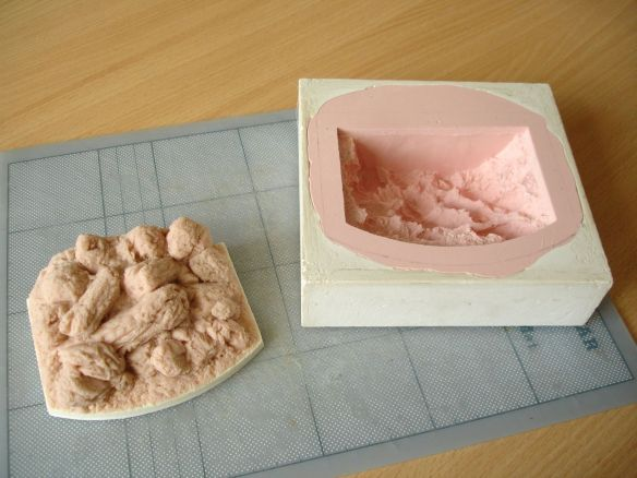 David Neat, props for stop-motion animation, Sculpey model and silicone mould