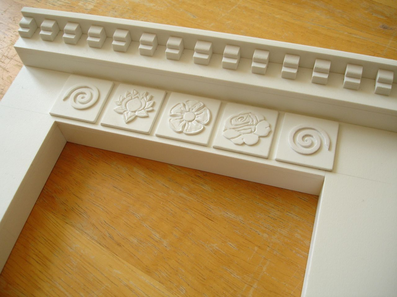 David Neat, props for stop-motion animation, fireplace carving in Palight foamed PVC
